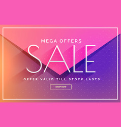 Elegant sale banner voucher template design in vector