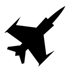 fighter jet icon vector image vector image