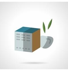 Fruit tea box flat color design icon vector