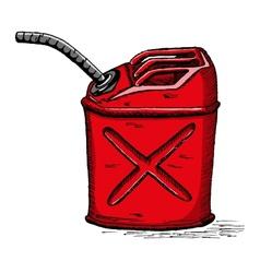 Gas can vector