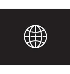 Globe with shadows Earth logo overlap vector image