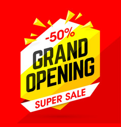 grand opening super sale vector image vector image
