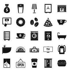 Holiday house icons set simple style vector