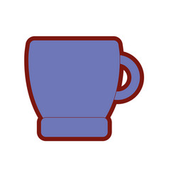 line color coffee cup drink beverage icon vector image