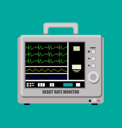 Patient heart rate monitor vector