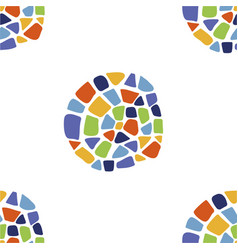 pattern with mosaic cirlces vector image