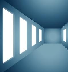 presentation gallery wall vector image vector image