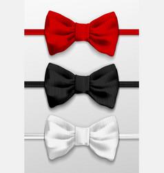 Realistic bow tie vector