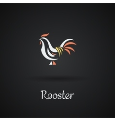 Rooster cock chicken vector image vector image