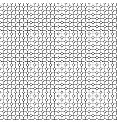 rounded square seamless pattern vector image