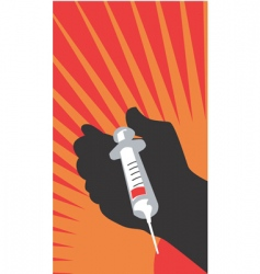 syringe poster vector image vector image
