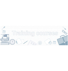 training courses word on squared background vector image