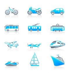 transportation icons marine vector image