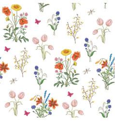 Wildflowers vector