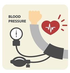 Blood pressure measurement poster - hand vector