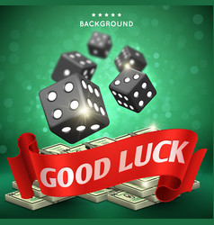 casino dice gambling background good luck vector image