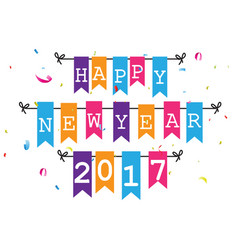 Happy new year greeting card design vector