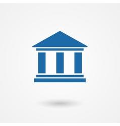 Blue bank icon vector