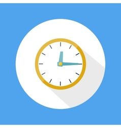 Round office clock vector