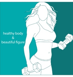 Attractive girl athletic vector