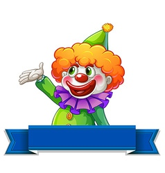 Clown label vector image