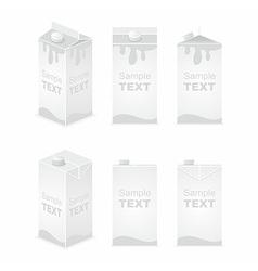 Juice pack vector image
