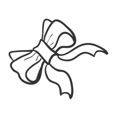 Doodle bow-knot vector