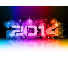 2014 new year colorful background vector