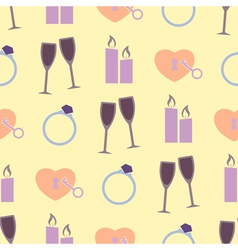 Seamless background with wedding equipment vector