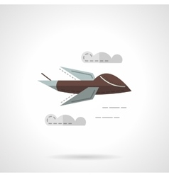 Predator drone flat simple icon vector