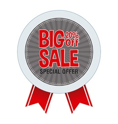 Big sale label vector