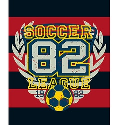 Sports soccer league distressed jersey print vector