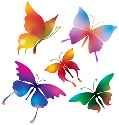 colored butterflies vector image
