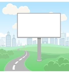 Blank empty billboard screen and urban vector