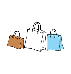A shopping bags are placed vector