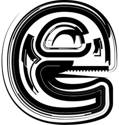 Abstract Letter e vector image vector image