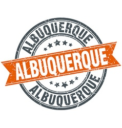 Albuquerque red round grunge vintage ribbon stamp vector