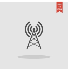 Antenna icon Flat design style vector image