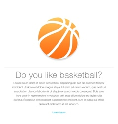 Basketball icon Orange basketball ball vector image vector image