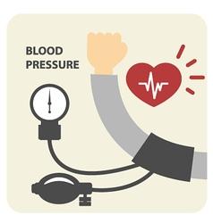 Blood pressure measurement poster - hand vector