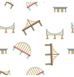 Bridge transition pattern cartoon style vector