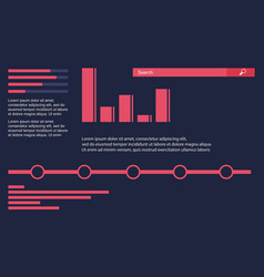 Business infographic design graphic and data vector