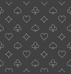 dark card suits pattern vector image vector image