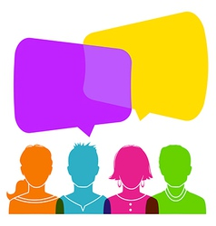 Dialog people vector image vector image