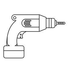 drill icon outline style vector image vector image