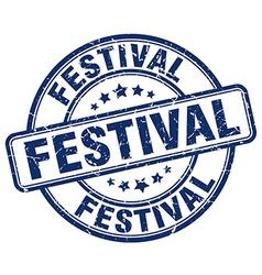 Festival blue grunge round vintage rubber stamp vector