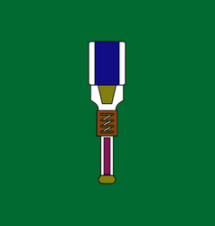 Flat icon design collection military tool vector