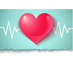 heart and pulse vector image