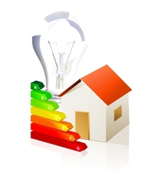 house and energy classification vector image vector image