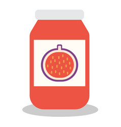 jar with fruit and berry jam vector image vector image